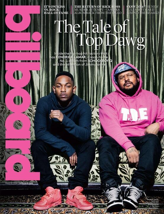 Kendrick Lamar и ScHoolboy Q на обложке журнала Billboard