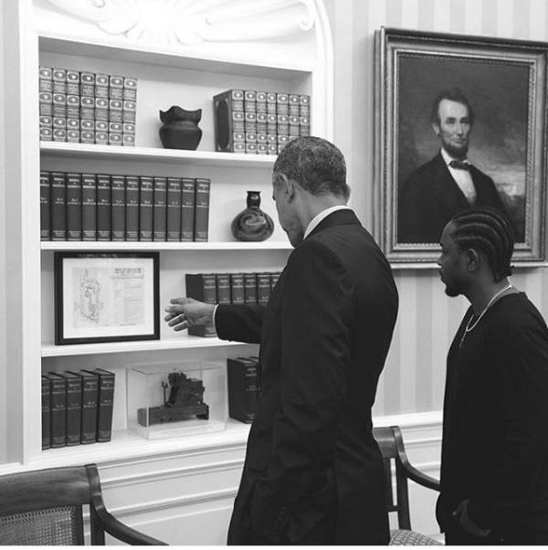 Kendrick Lamar встретился с Бараком Обамой в Белом Доме